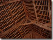 Interior of the roof of the barn at our holiday home
