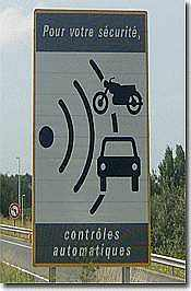 France Controles Automatiques speed camera warning sign