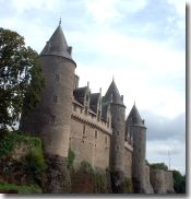 Josselin's Chateau overlooking River Oust