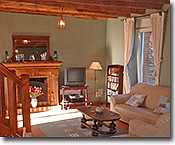 Lounge and TV area in our Brittany Holiday Home